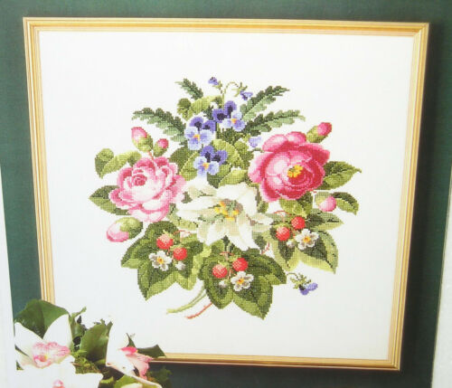 Antigue  Roses  /&  Strawberries Counted  Cross  Stitch  Pattern