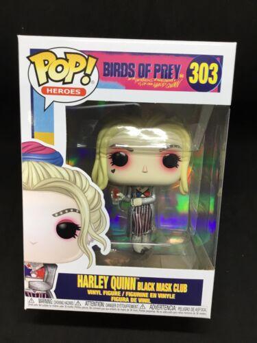 Heroes Birds Of Prey Harley Quinn Black Mask Club #303 DC Comics new Funko Pop