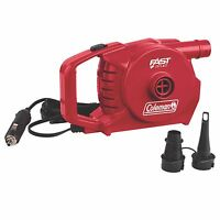 Coleman Quickpump 12v Car Boat Outlet Inflate & Deflate Quick Pump W/ Adaptors on sale
