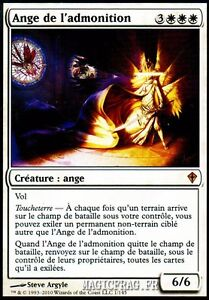 Ange de l'Admonition - Admonition Angel  - Magic Mtg - NM