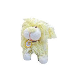 Kenner Walt Disney Fluppy Dogs Plush Stuffed Toy Yellow White Yarn Vintage 1986