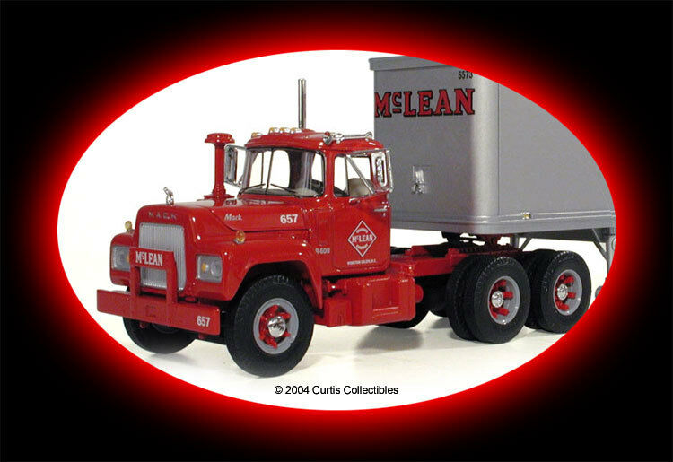 HUGE 17  LONG MCLEAN FREIGHT FREIGHT TANDEM TANDEM R MACK TRACTOR TRAILER FIRST GEAR
