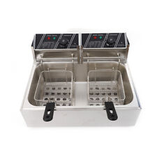 Electric Deep Fryer Single Tank Commercial Restaurant Stainless Steel 12l 5000w