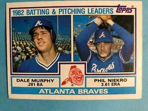 1983-Topps-Atlanta-Braves-Complete-Team-Set-27-cards-Murphy-Niekro-Horner