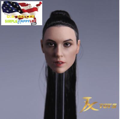 1//6 Female Head Sculpt Double Braid For 12/'/' SUNTAN PHICEN HOT TOYS Figure ❶USA❶
