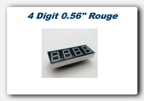 """*** lot your choice of 1*2 or 5 readouts 7 segments red cc 0.56/"""" arduino ***"""