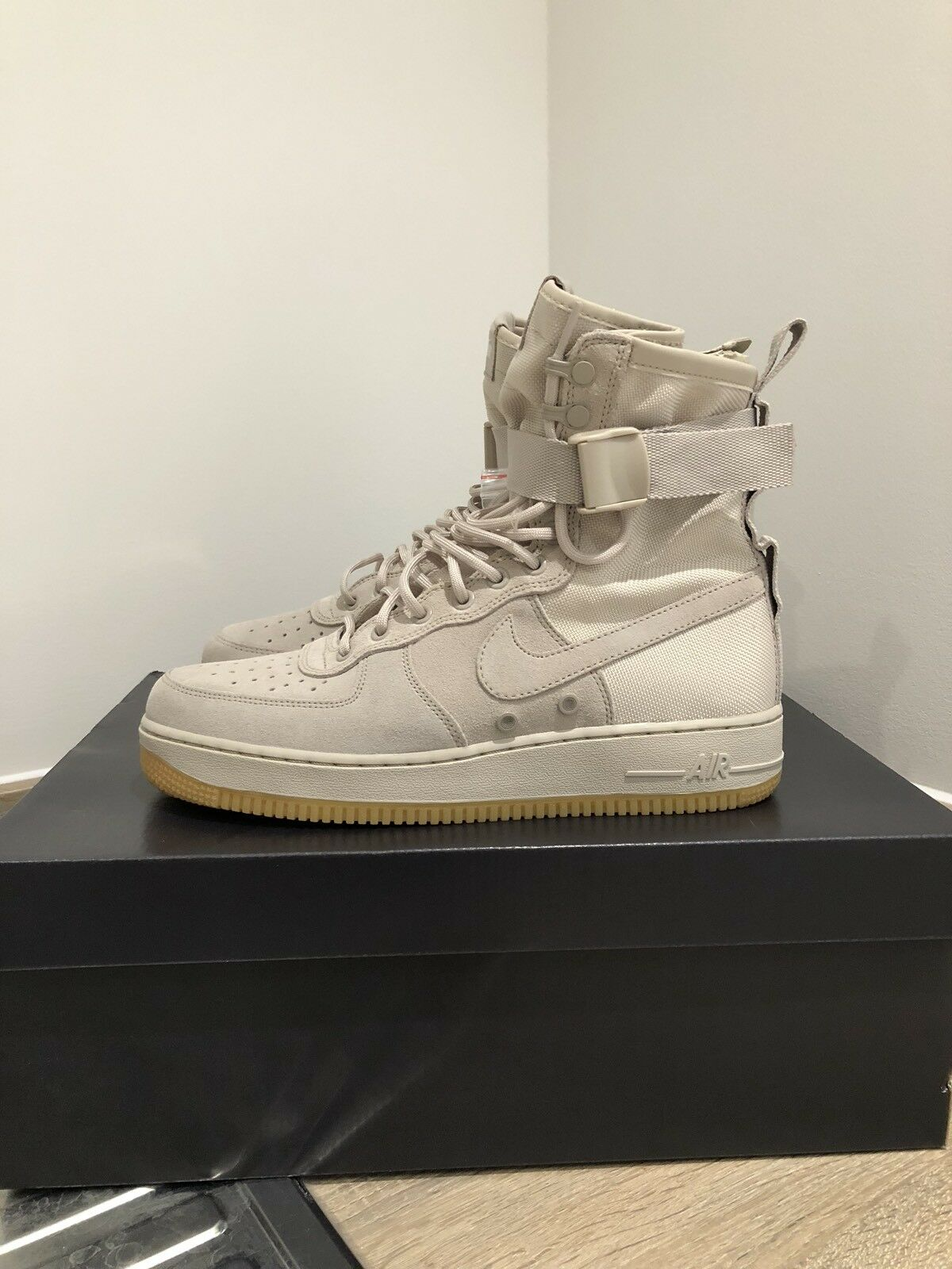 100% Authentic Brand New Nike Air Force 1 AF1 SF - Tan / Sand / Gum-8