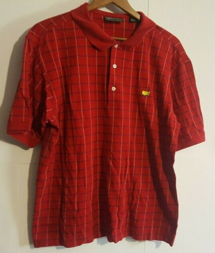 Masters Collection Men's Masters Red/Plaid Large G