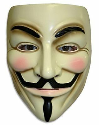New V for Vendetta Mask Anonymous Fawkes Fancy Dress Adult Costume Masks