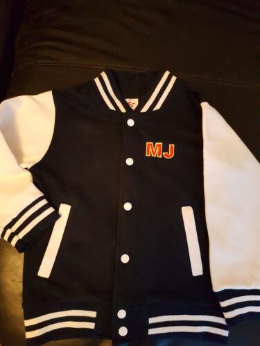 Michael Jackson kids embroidered varsity jacket
