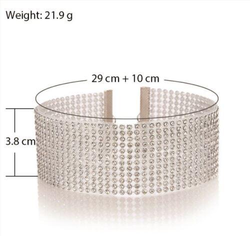 Full Diamond Crystal Rhinestone Choker Necklace Fashion Jewellery UK Seller