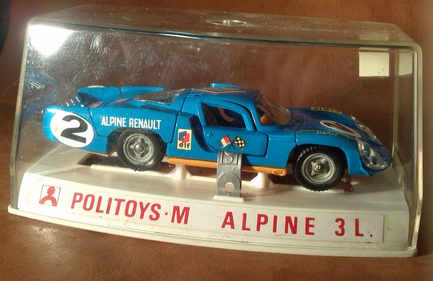 Politoys-M - ref.598 1 43 scale diecast - Alpine Renault 3L - MINT