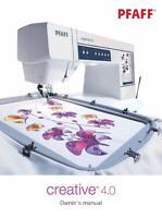 Pfaff Creative 4.0 Instructions User Guide Manual Color Copy