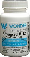 Sublingual Vitamin B12 (1000 Mcg), B6 (5mg), Folic Acid(400 Mcg) & Biotin (25mcg