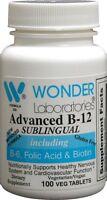 Sublingual Vitamin B12 (1000 Mcg), B6 (5mg), Folic Acid(400 Mcg) & Biotin (25mcg