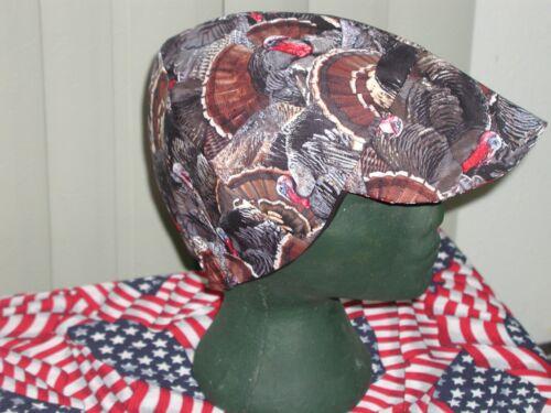 Wild Turkey Hunter Red/'s American Made Welding Hat Biker Cap $7.50 each