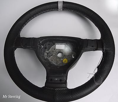 FOR CHEVROLET ASTRO 95-05 PERFORATED LEATHER STEERING WHEEL COVER + GREY STRAP