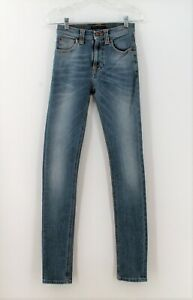 New-Nudie-Jeans-Sz-24-x-32-00-Organic-Cotton-High-Kai-Original-Light-Faded-N629