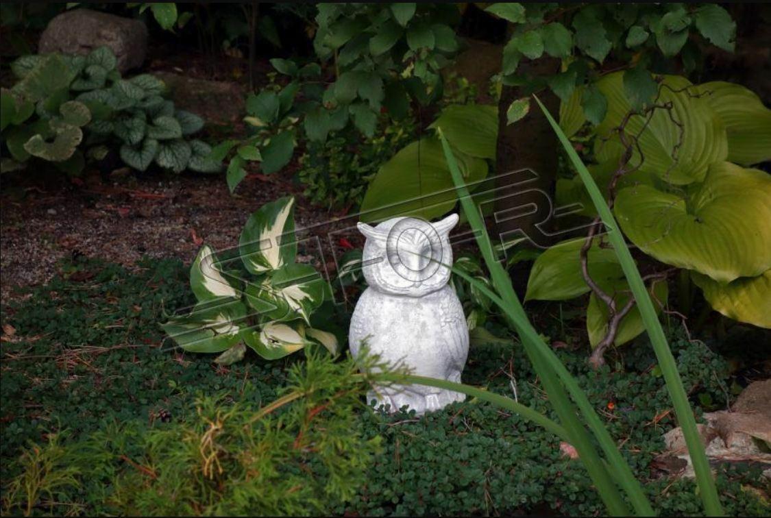 Garten Dekoration Eule Terrasse Stein Figuren Figur Deko Statue Skulptur Neu