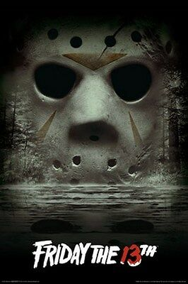 NEW 24X36 FRIDAY THE 13TH CRYSTAL LAKE POSTER