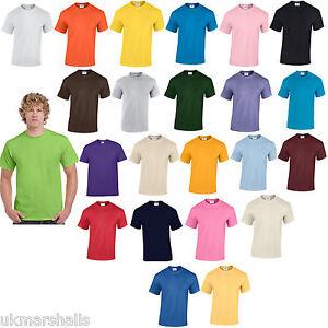 3 Gildan Plain 100 Cotton T Shirts Tee