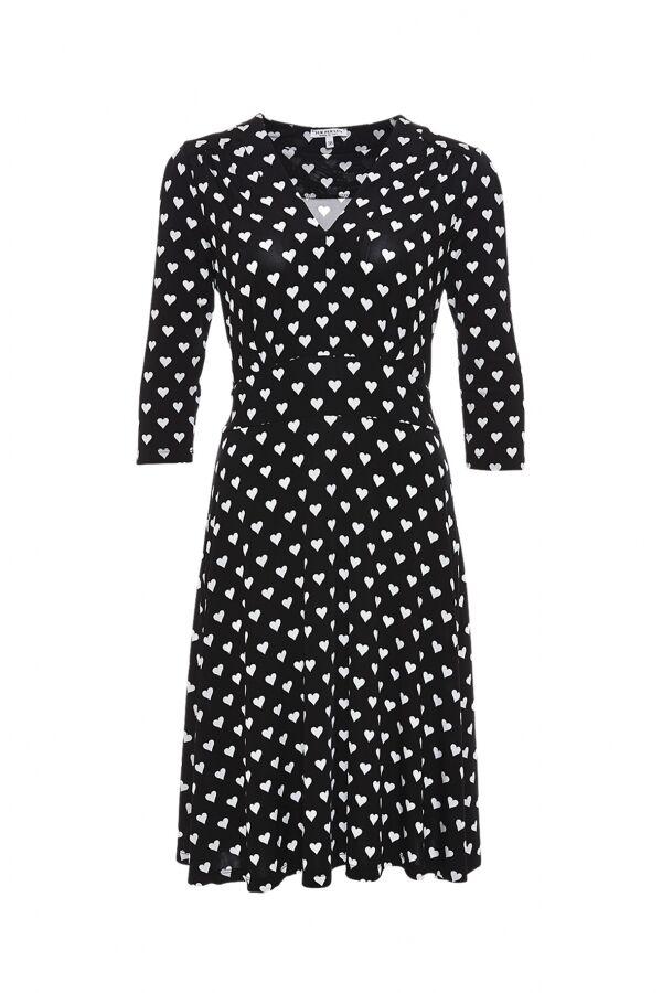 rotUZIERT    Kleid schwarz weiß, excl. Qualität, Marke  sem per lei, Größe 40