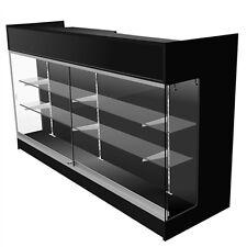 6' Ledgetop POS Sales Retail Display Showcase Counter Wrap Black Knockdown NEW