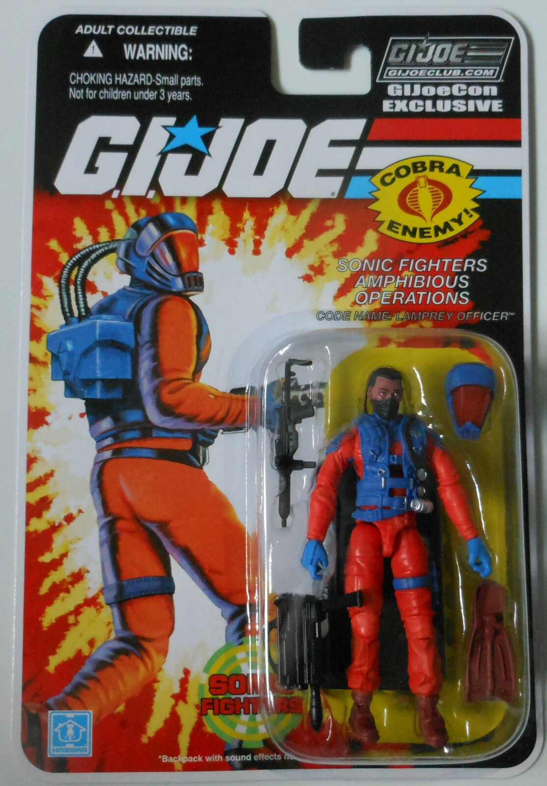 LAMPREY OFFICER SONIC FIGHTERS GI Joe Convention 2018 Exclusive figure MOC