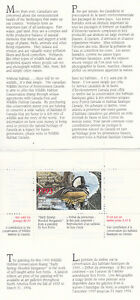 Canada MNH Wildlife Conservation 1993 UNITRADE FWH9 SIGNED Value $ 60.00