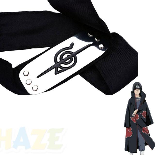 Naruto Uchiha Itachi cosplay Anti-Leaf Headband+Necklace+Ring Set