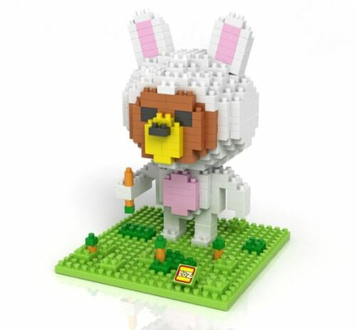 Bear Rabbit Carrot Mini Building Miniblock Block Nanoblock iBlock a F01