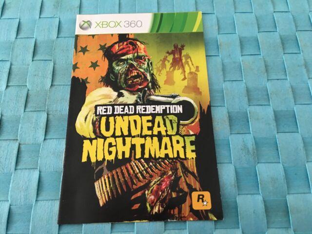 NOTICE DU JEU XBOX 360 - RED DEAD REDEMPTION UNDEAD NIGHTMARE