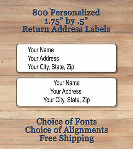 image is loading 800 plain personalized self adhesive printed return address
