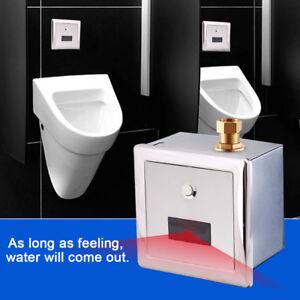 Wandmontage-Toilette-Urinalspueler-Spuelventil-Automatik-Sensor-Urinal-Armatur-DE