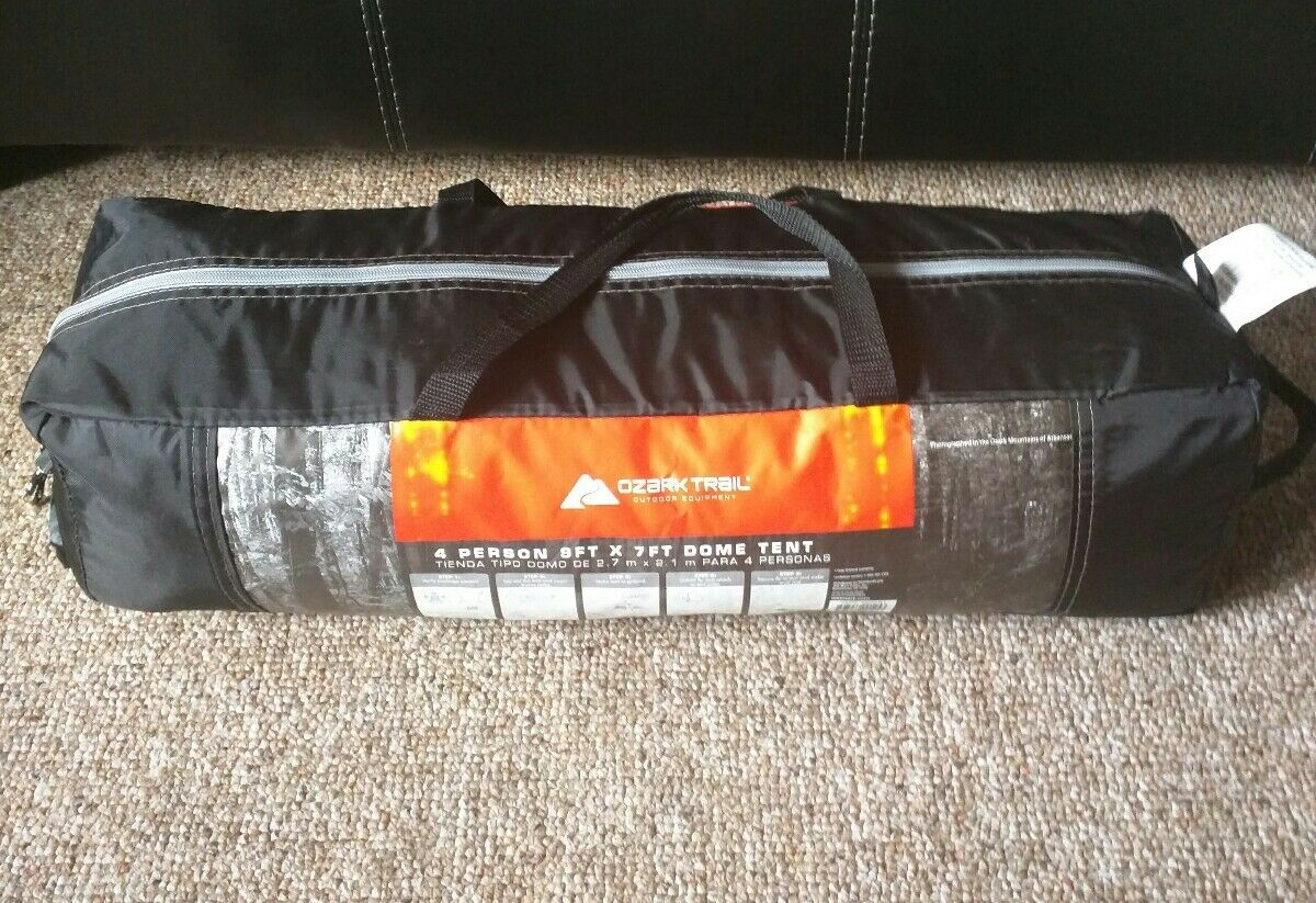 Ozark Trail 4 Person 9' x 7' Instant Instant Instant Dome Tent Fast Set Up - Light 8f34ae