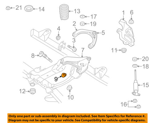 CHRYSLER OEM Front Suspension-Lower Control Arm Spacer 6508468AA