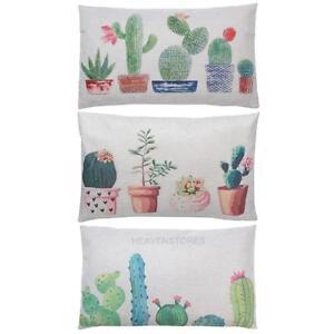 Cactus-Housse-de-coussin-Taie-d-039-oreiller-Cotton-Linen-Sofa-Canape-Salon-30X50