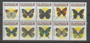 Philippine Stamps 2005 Philippine Butterflies P6 Block of 10 different MNH Compl