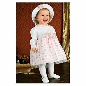 Vestiti Eleganti Bimbo 6 Mesi.Abito Vestito Da Battesimo Damigella Cerimonia Bimba Tg 4 6 Mesi