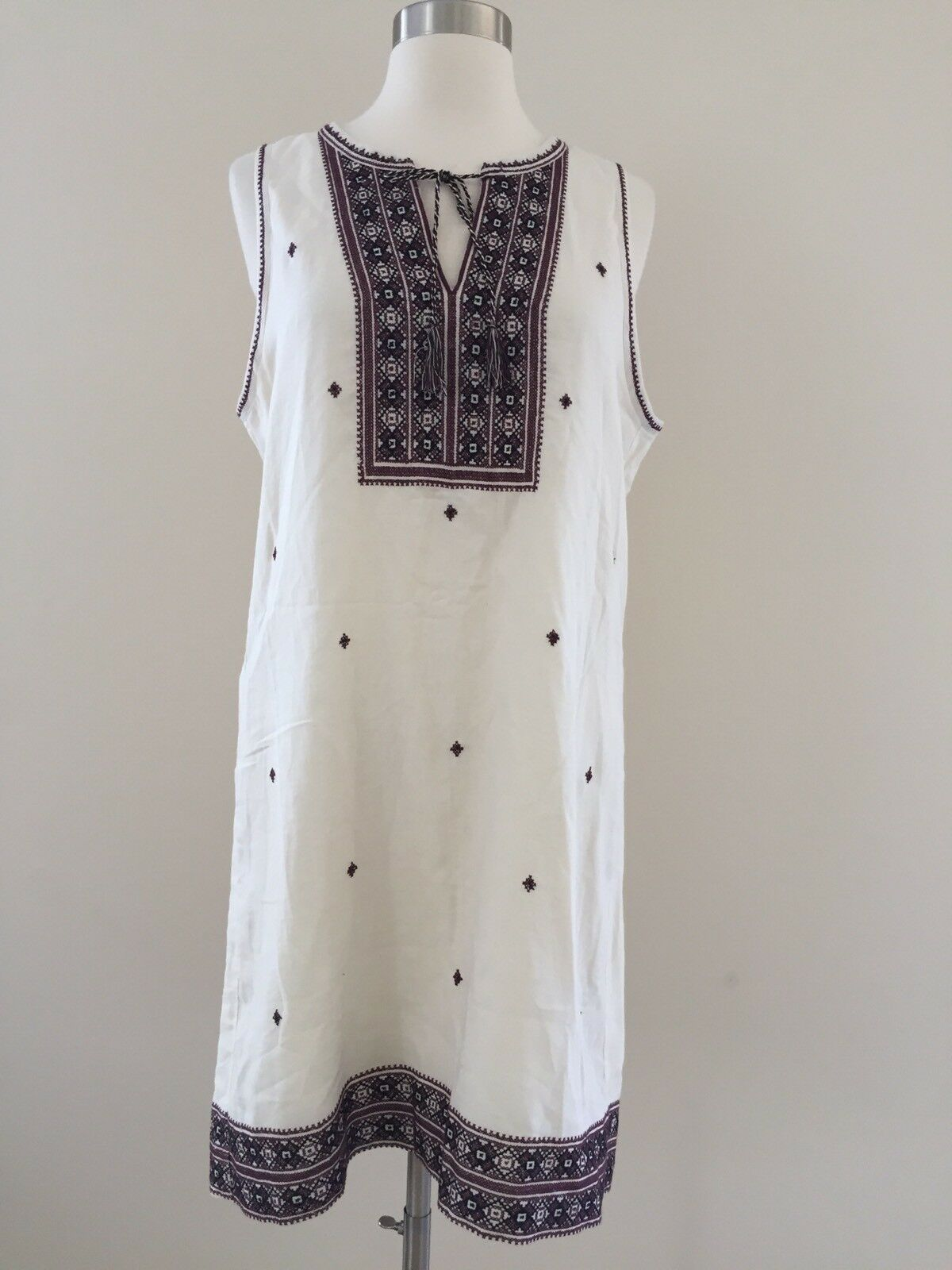 158 Madewell By J Crew Embroidered Suncoast Dress F2231 8 Bright Ivory Sold Out