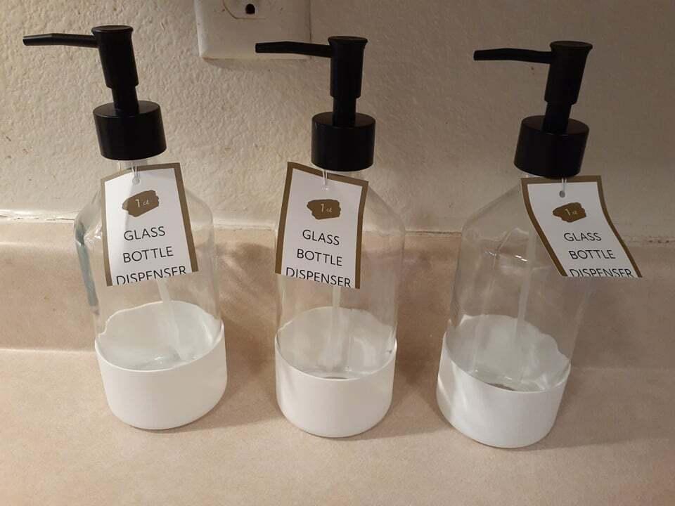 Bullseye's Playground Glass Soap Dispenser Bottle With Pump (3-Pack)