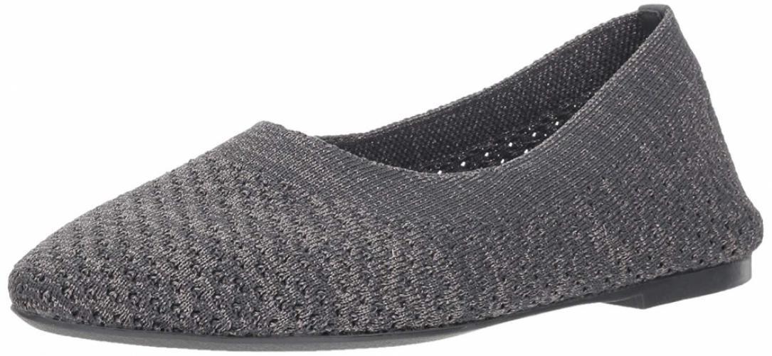 Skechers Wouomo Cleo-Star Daze-Metallic Engineerosso Knit Skimmer Ballet Flat