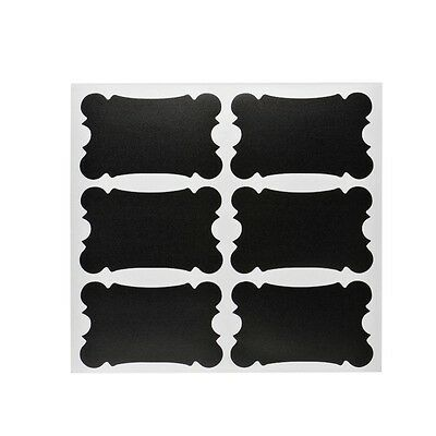 36pcs Rectangle Chalkboard Removable Stickers Labels for Jars Pantry Canister