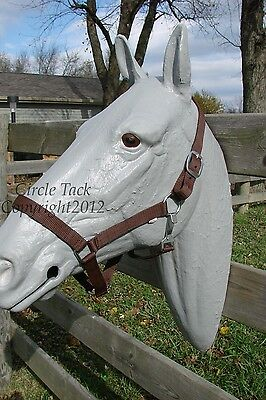 Brown Nylon Full Horse Halter w/Throat Latch One Price Free Shipping