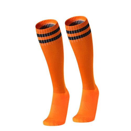 Unisex Striped Sports Men Women Football Knee High Long Socks Baseball