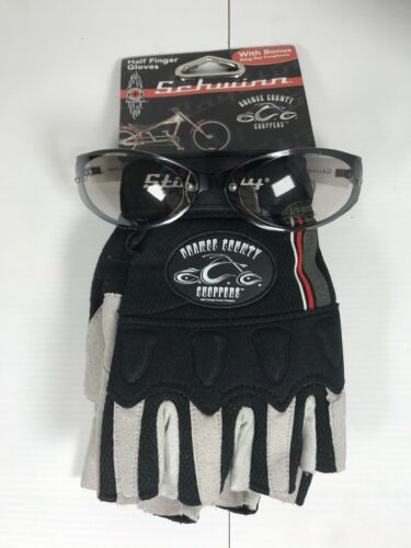 Orange County Choppers Schwinn Half Finger Gloves With Stingray Sunglasses S//M