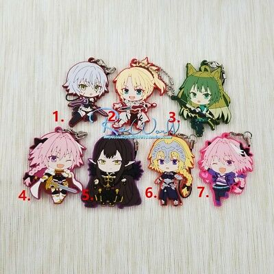 Japan Anime Fate Grand Order Apocrypha 一番くじ FGO Rubber Strap Keychain Bag Charm