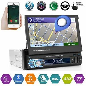 Voiture-Autoradio-7-034-Ecran-Tactile-1DIN-Car-Stereo-Bluetooth-GPS-Navi-MP3-Radio