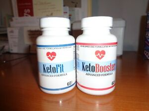 NEW-KETO-FIT-amp-KETO-BOOSTER-WEIGHT-LOSS-60-CAPSULES-EACH-BOTTLE-FREE-SHIP