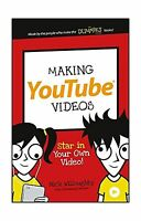 Making Youtube Videos: Star In Your Own Video (dummies Junior) Free Shipping